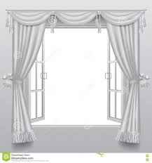 open white double window with classic blinds and transparent gla