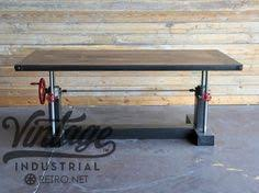 French Industrial Desk Royston French Industrial Desk On Casters By Vintageindustrial