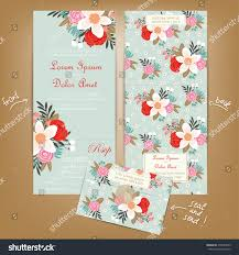 Seal And Send Wedding Invitations All One Wedding Invitation Vintage Flowers Stock Vector 276047009