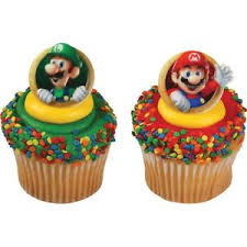 mario cake toppers mario cupcake toppers rings birthday party supplies favors