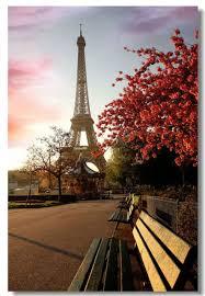 Eiffel Tower Garden Decor Paris Eiffel Tower Landscape City Poster Home Decor Kids Gift