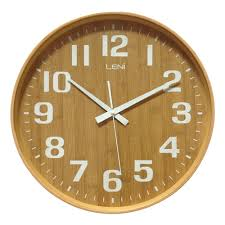 buy leni bamboo wooden wall clock large wallet online purely