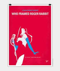 rabbit poster no271 my roger rabbit minimal poster chungkong