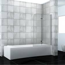 Bath Shower Screens Uk Bathroom 180 Pivot Hinge Folding Bath Shower Screen Over Bath Door