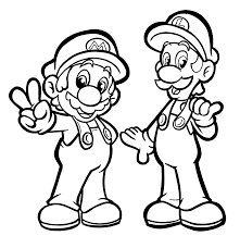 mario and luigi coloring pages for kids printable free coloring