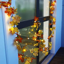 maple leaf garland with lights lumiparty 10 led lighted maple leaf fall leaves garland lights