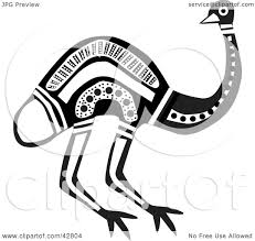 aboriginal clipart black and white pencil and in color