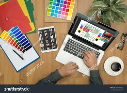 creative designer graphic work color swatch stock photo 593770853