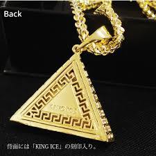 hip hop jewelry necklace images Criminal king ice surface of necklace 14 k gold coating gold jpg
