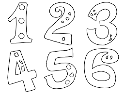 number coloring pages 1 10 worksheets free printable within free