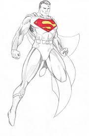 drawn super drawing superman pencil color drawn