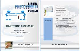 advertising proposal template free proposal templates
