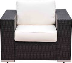 outsunny 7 piece wicker outdoor sectional sofa set patio table