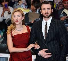 Chris Evans  Scarlett Johansson Reportedly Dating       Avengers     Mstars News   Music Times Scarlett Johansson and Chris Evans attend the UK Film Premiere of      Captain America  The