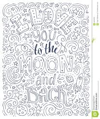 love you to the moon stock vector image 63094597