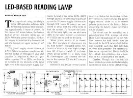 home built led lighting otherpower watt ac reading lamp circuit