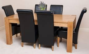 solid oak table with 6 chairs kuba solid oak dining table with 6 or 8 montana chairs available in