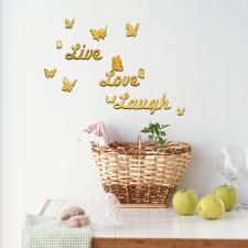 online get cheap live laugh love butterfly aliexpress com funlife butterfly wall sticker 3d diy