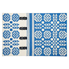 Aztec Design Rugs Brand New Ikea Black And Off White Aztec Design Rug 200x300cm
