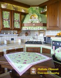 Tende Cucina Rustica by Set Cucina Country Canovaccio Presine Guanto Da Forno