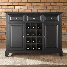 furniture elegant dark buffet sideboard with cozy carpet tiles