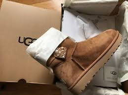 ugg womens shoes ebay 210 ugg womens mini bailey bow brilliant boots shoes chestnut