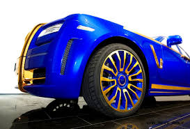 rolls royce ghost gold mansory rolls royce ghost upgrades in white and electric blue gold