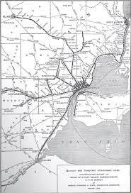 Detroit Metro Map by Map Of Detroit Interurban Lines 1915 Detroitography