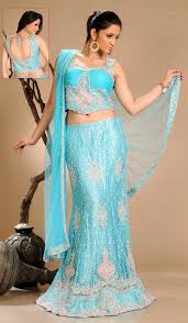 asian blue wedding dress for indian pakistani bride