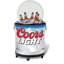 coors light beer fridge light mini tailgate cooler