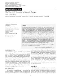 autopsy report sample the use of ct scanning in forensic autopsy pdf download available