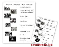 key events of the civil rights movement free packet homeschool den