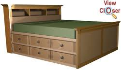 King Platform Bed Building Plans purchase the plan then build it yourself this looks to have an