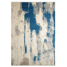 Blue And White Area Rugs Renwil Alberto White Blue 5 Ft 2 In X 7 Ft 2 In Indoor