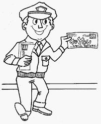 mailman hat coloring page mailman coloring page color book