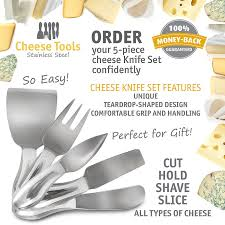 Types Of Kitchen Knives by Amazon Com Delightly Cheese Knives Set Premium 5 Piece Hold Cut