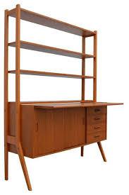 Modern Desk Hutch Inspiring Modern Desk With Hutch Of Swedish Mid Century Teak And