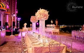 vizcaya wedding vizcaya wedding lighting centerpieces pinspots venue
