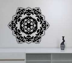 Indian Decorations For Home Mandala Vinyl Decal Wall Sticker Namaste Flower Art Decorations