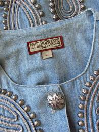 Double D Ranch Clothing Double D Ranch Wear Concho Studded Denim Jacket