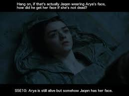 Arya Meme - main spoilers the game of faces why arya doesn t suck gameofthrones