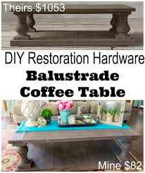 coffee tables dazzling diy ballustrade coffee table restoration