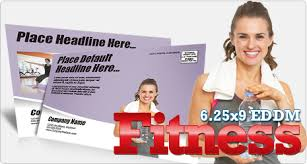 6 25 x 9 fitness every door direct mail postcard template stretch