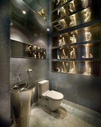 modern powder room sinks modern powder room ideas stainless steel sink amosaic tile walls