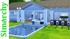 Back Yard House The Sims 4 House Tour Large Family Home With Gorgeous Backyard
