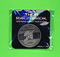 thor ragnarok opening night fan event thor ragnarok opening night fan event exclusive limited edition coin