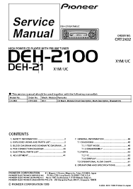 pioneer deh 2100ib wiring diagram pioneer wiring diagrams collection