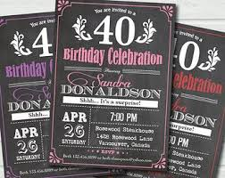 26 best 40th birthday invitations images on pinterest 40th