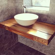Bathroom Sink Shelves Floating Our Floating Bathroom Shelf With Vessel Bowl Sink Handcrafted
