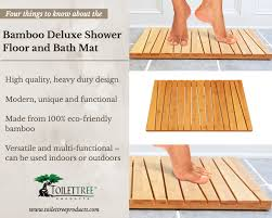 key features of the toilettree products bamboo shower floor and